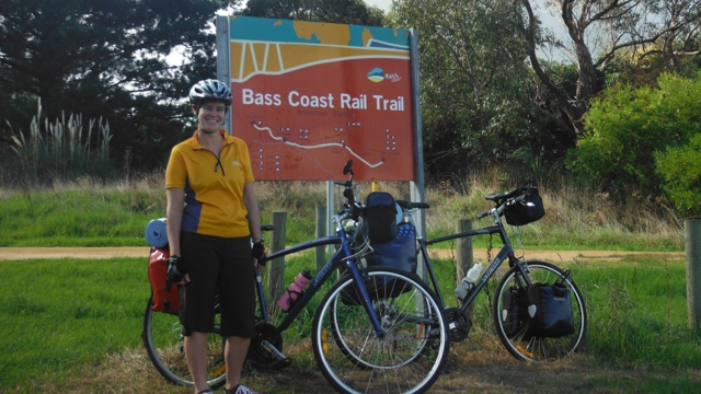 Starting the Bass Coast Rail Trail