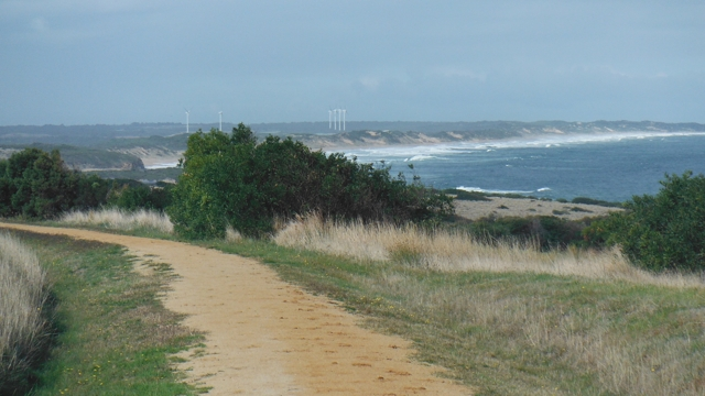Superb sea views from the trail