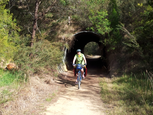 Biking through tunnels