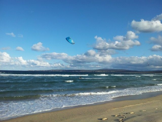 Kite surfers on Merimbula Beach