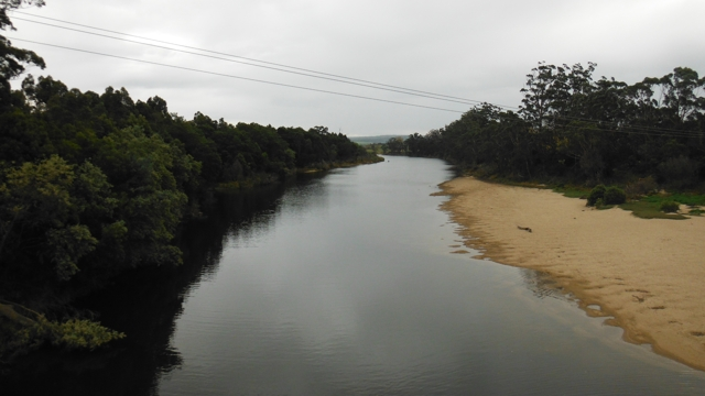 The 'once' mighty Snowy River at Orbost.