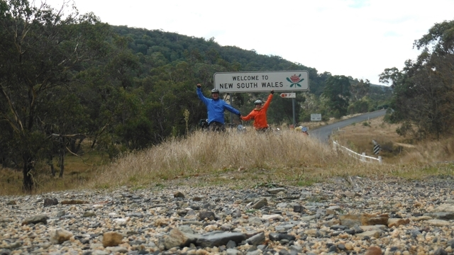 The Victoria/NSW border on the Bonang Highway