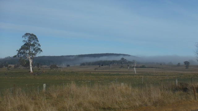 The clearing mist on the plateau