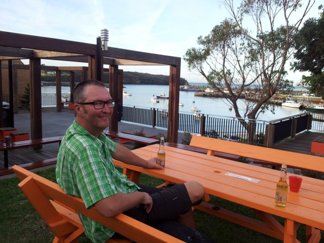 will enjoying a beer in Ulladulla
