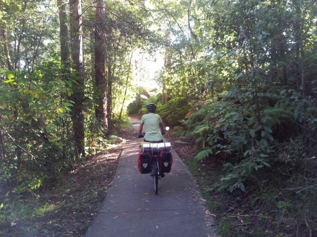 Starting on a great cycle path