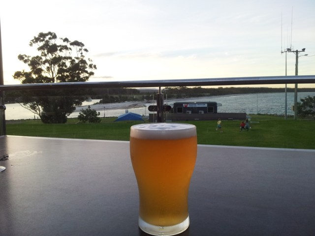 Huskison beer with a view