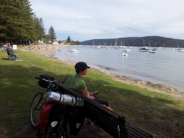 Waiting for the ferry at Palm Beach