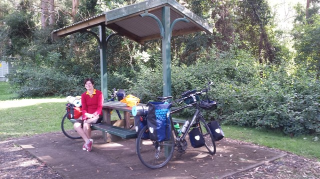 Lunch in a nice rest area