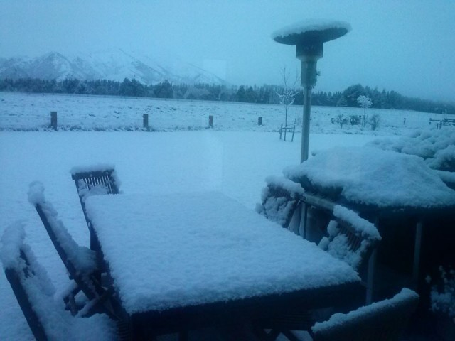 Snow at home in Wanaka!  Not like that here in sunny northern NSW.