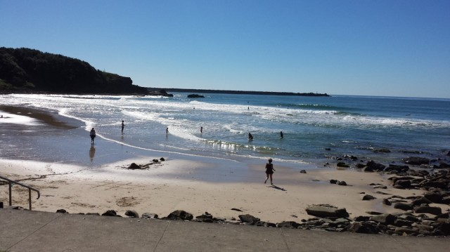 Yamba beach in Winter