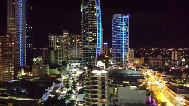 View of Surfers Paradise from our hotel room